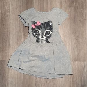Other - Toddler Girls 4T Cat Dress Grey, Pink, Black